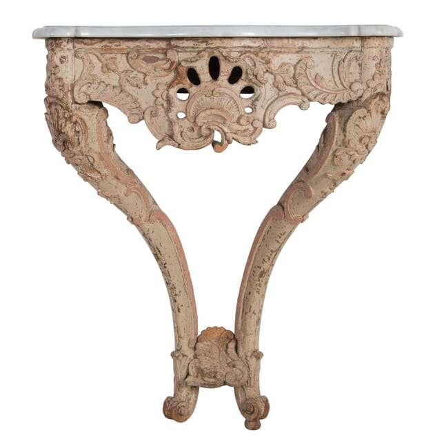 Decorated Marble Topped Console Table CO4710740