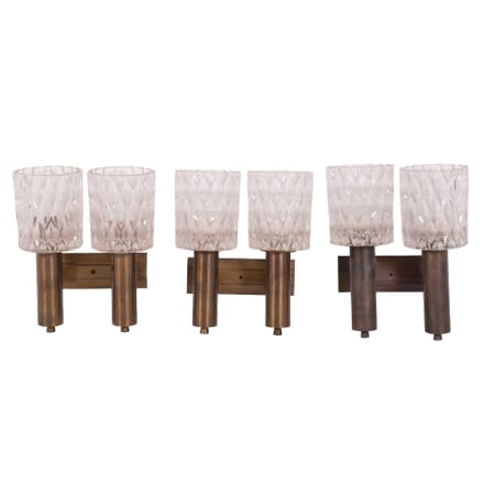 Set of Three Italian 1960's Wall Sconces LW2859604