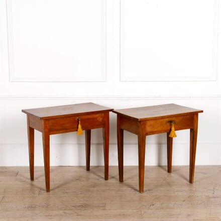 Matched Pair of English Cherry Wood Side Tables CO287302
