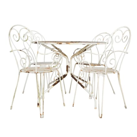 French Steel Garden Table Chairs CH4512127