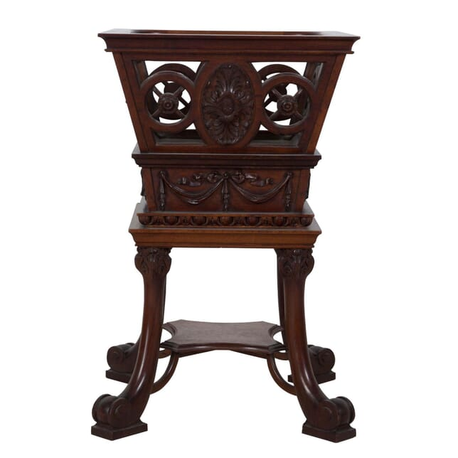 19th Century Mahogany Carved Planter OF1010412