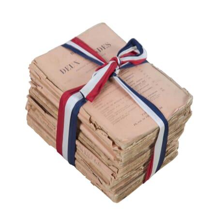 Stack of French Decorative Books DA5113291