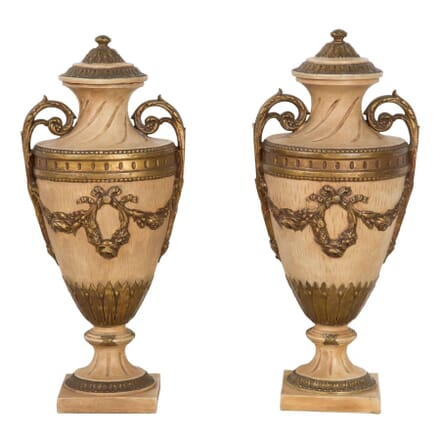 Early 20th Century Pair of Terracotta Urns DA0360719