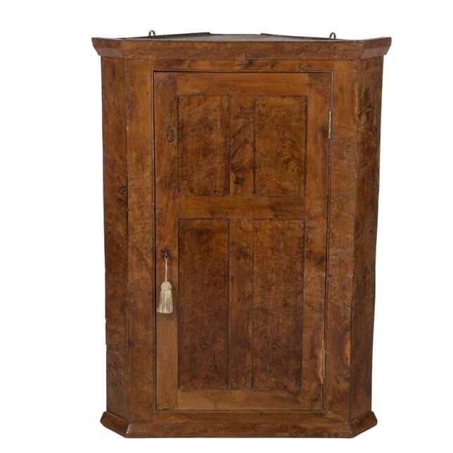Yew Wood Corner Cupboard Circa 1780 CU9059691