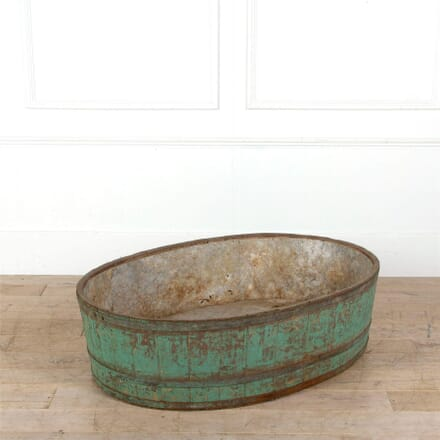 French Wooden Zinc Lined Planter GA287289