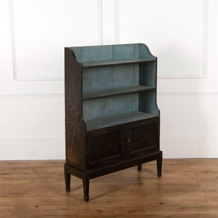 19th Century English Waterfall Bookcase BK927564