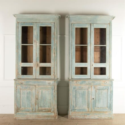 Pair of 19th Century French Kitchen Dresser/Bookcases CU447467