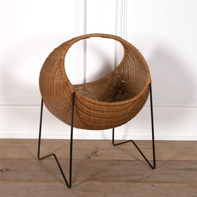 Metal & Wicker Baby Basket OF2962123