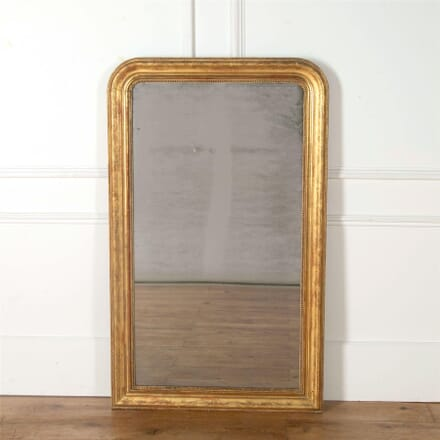 A Water Gilded Louis Philippe Mirror with Floral and Foliate Etching MI717397