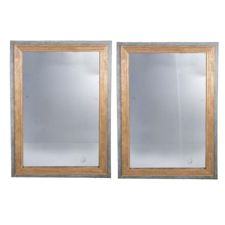 Pair Of French Mercury Plate Mirrors MI3759120