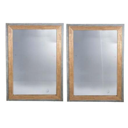 Pair Of French Mercury Plate Mirrors MI3759120