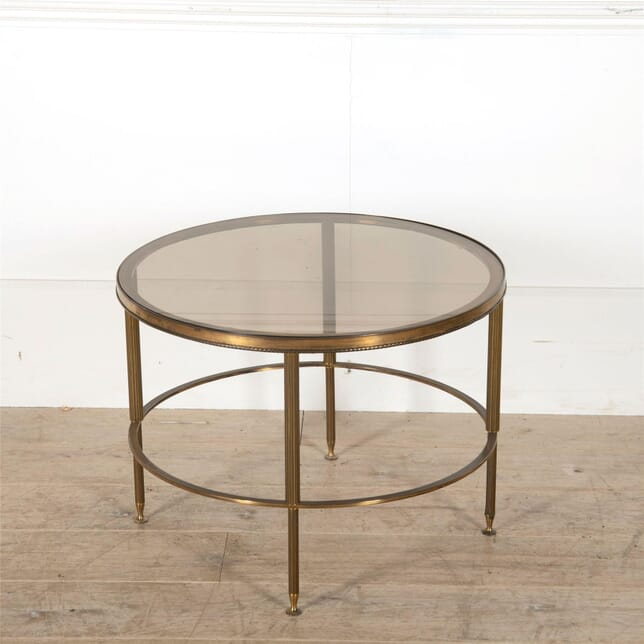 1960's Circular Patinated Brass Coffee Table CT0562584