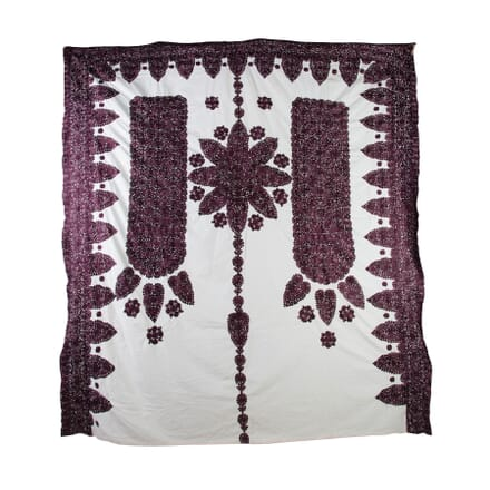 Moroccan Silk Embroidered Throw RT0153921