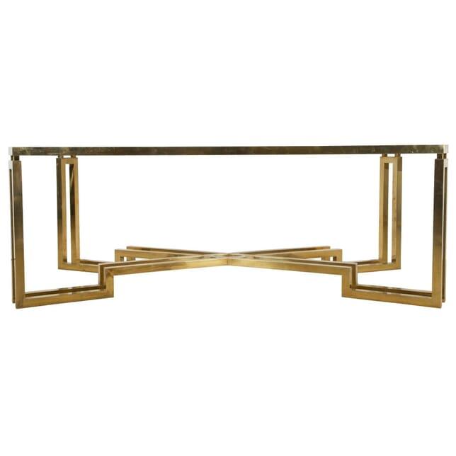 1960s Italian Brass Dining Table TD0110953