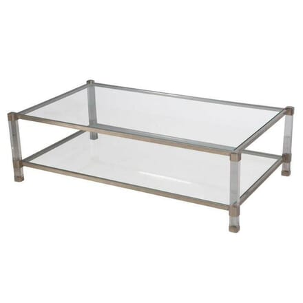 Chrome and Lucite Coffee Table TC0154634
