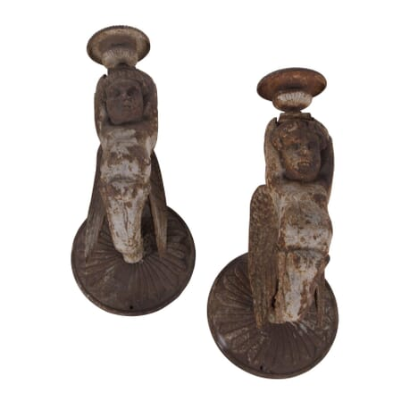 Pair of Cast Iron Wall Sconces LW3660259