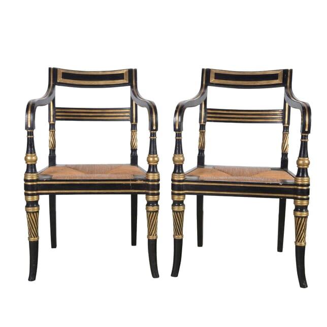 Pair of Regency Chairs CH9955506