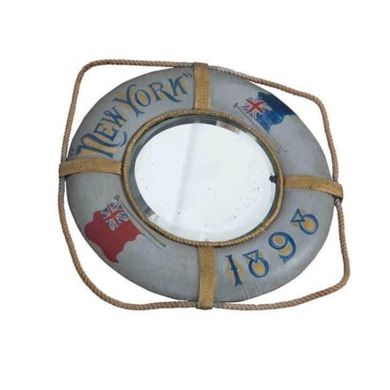Life Buoy Shaped Mirror MI2955003