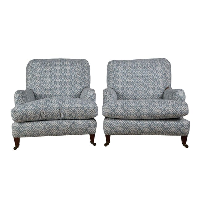 Pair of Howard and Sons Ivor Armchairs CH235199