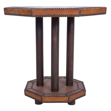 French Art Deco Leather Side Table TC7359912