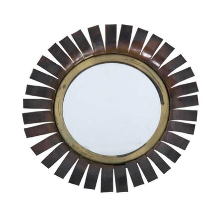 70's Brass Chaty Daisy Wall mirror MI2955005