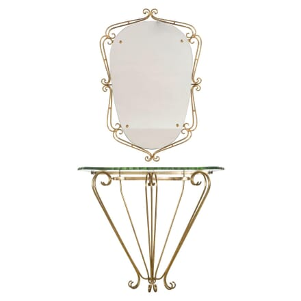 Italian Console with Matching Mirror CO3057507