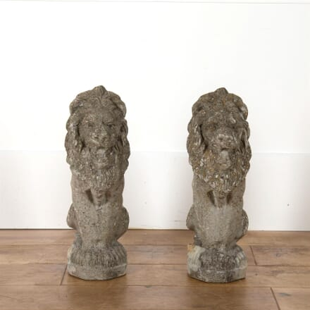 Pair Of Reconstituted Stone Lions GA4562676