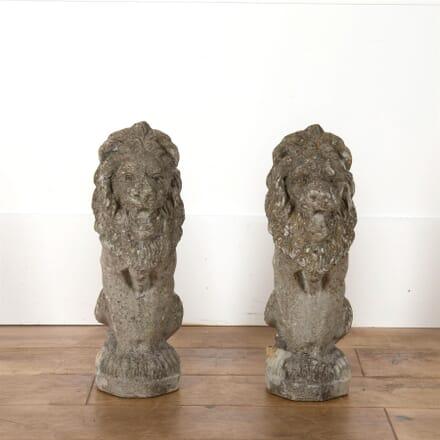 Pair Of Reconstituted Stone Lions GA4562676