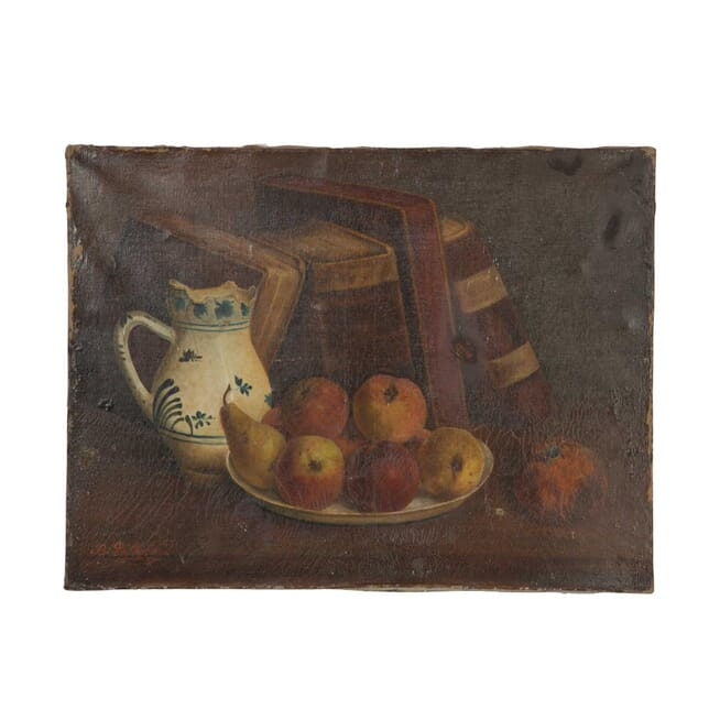 Still Life of Fruit and Books WD5557998