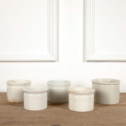 Large French White Porcelain Pate Jars DA4461568