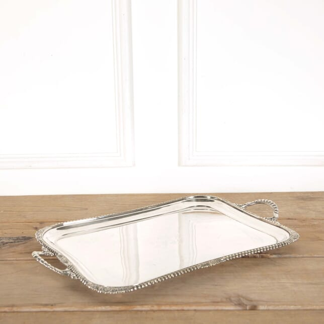 Victorian Twin Handled Silver Plated Serving Tray DA588625
