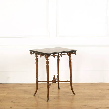 Victorian Walnut Ebonised Side Table CO598855