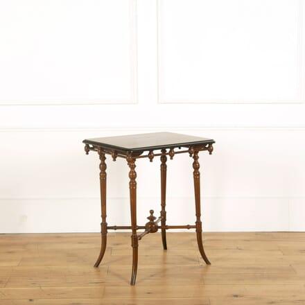 Victorian Walnut Ebonised Side Table CO598855