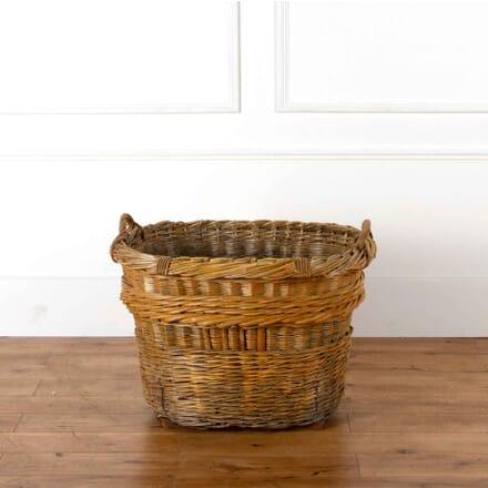 Vintage Champagne Vineyard Basket DA518217