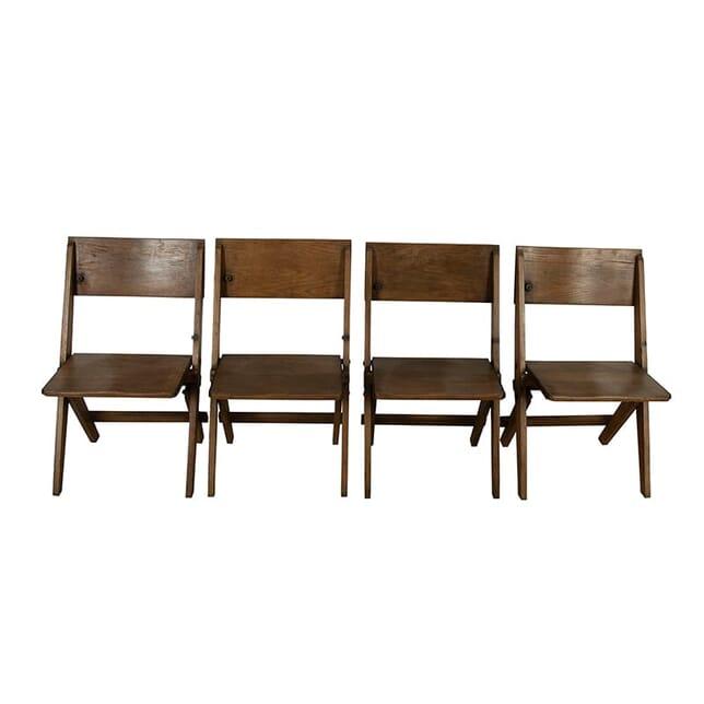 Vintage Oak Folding Chairs CH9960959