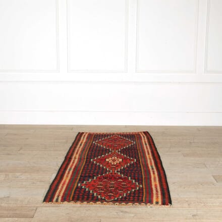 Vintage Persian/Kurdish Senne Kilim RT998157