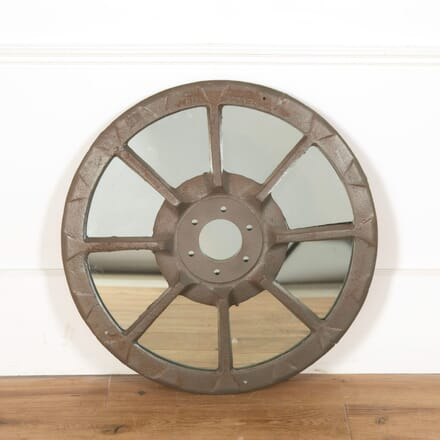 Vintage Tractor Wheel Faceted Mirror MI998908