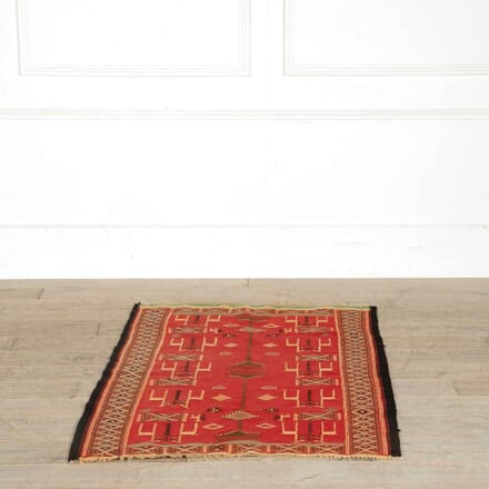 Vintage Tunisian Red Wool Kilim RT998156
