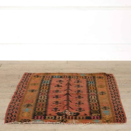 Vintage Turkish Slit Weave Prayer Kilim RT998159