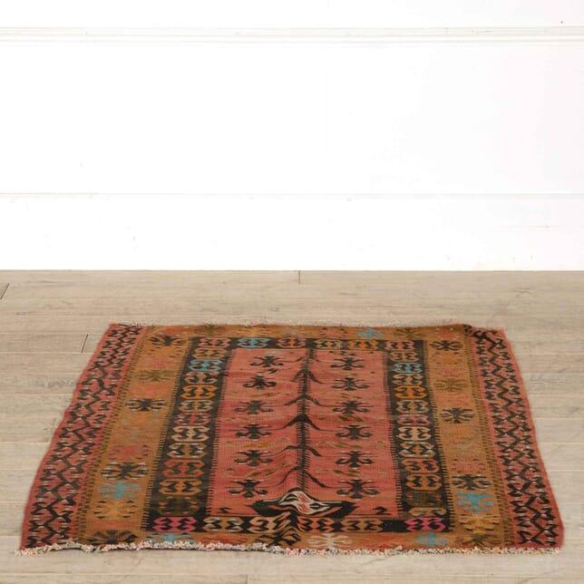 Vintage Turkish Slit Weave Prayer Kilim RT998159