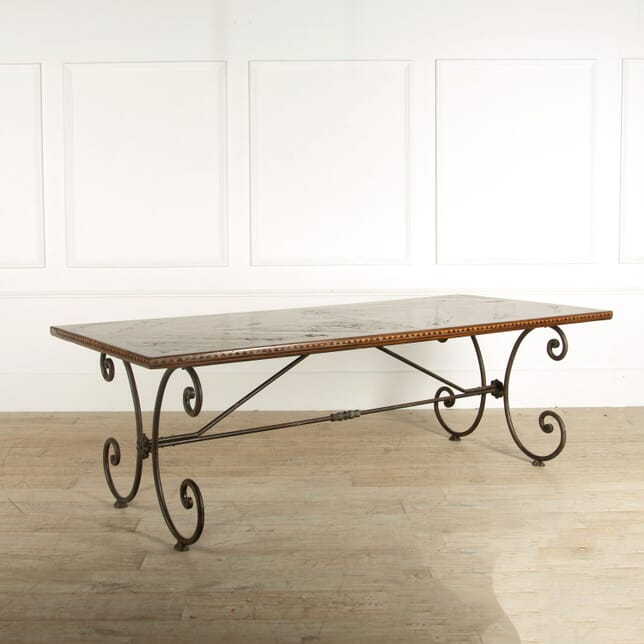 Walnut and Metal Dining Table TD528989