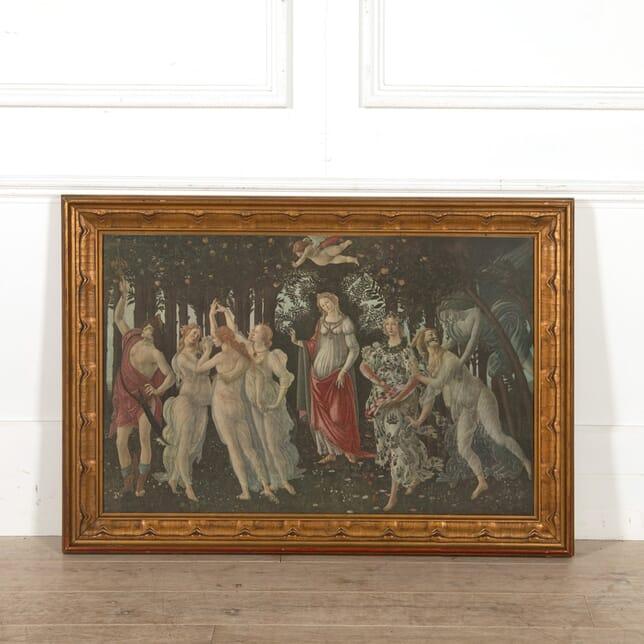 Arundel Society Print of Botticelli's 'Primavera' in Gilt Frame WD058417
