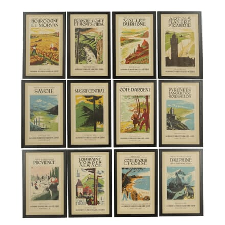 Twelve Framed Travel Posters WD157689