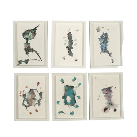 Set of 6 Abstract Collages by Turco WD298579