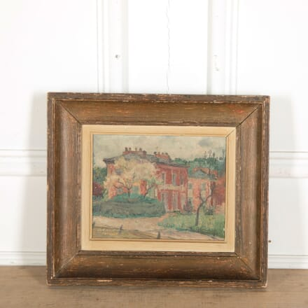 Oil Painting of a French House WD717780